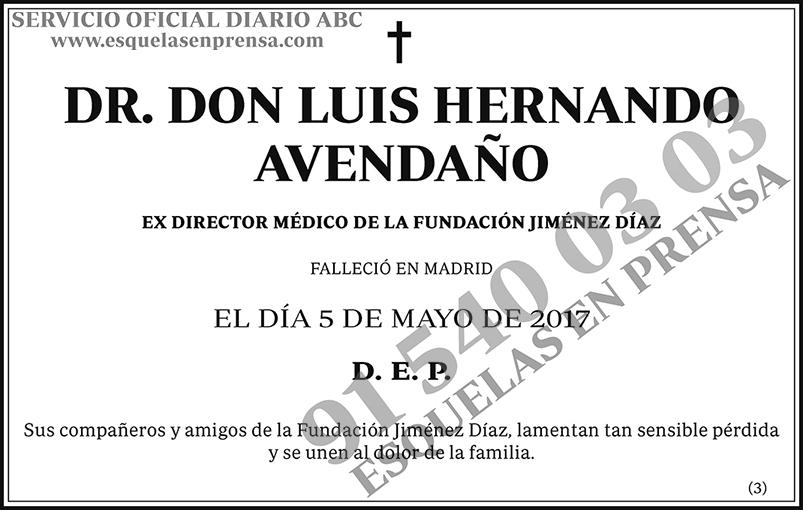 Luis Hernando Avendaño